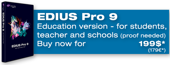 Buy EDIUS Pro 9 Education now